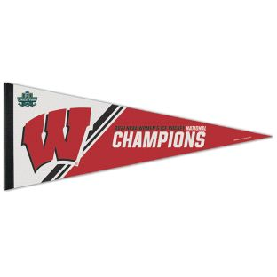 Wisconsin Badgers 2021 Women's Hockey National Champions 12X30 Felt Pennant