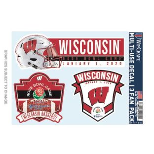 Wisconsin Badgers 2020 Rose Bowl Decals