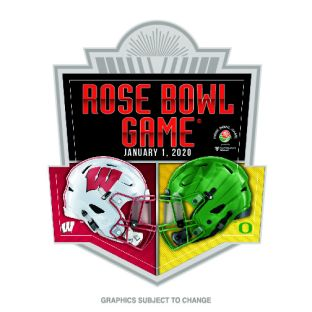 Wisconsin Badgers 2020 Rose Bowl Dueling Helmets Lapel Pin