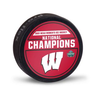 Wisconsin Badgers 2021 Women's Hockey National Champions Puck