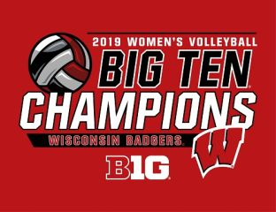 Wisconsin Badgers Volleyball Big Ten Champs Lapel Pin