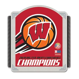Wisconsin Badgers Basketball 2020 Big Ten Conference Champs Pin