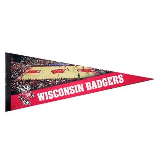 Wisconsin Badgers Basketball Premium 12x30 Felt Pennant