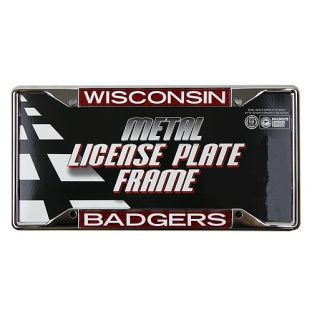 Wisconsin Badgers Glitter License Plate Frame