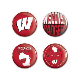 Wisconsin Badgers Wincraft 4 Pack Buttons