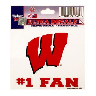Wisconsin Badgers 3x4 Fan Decal