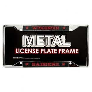 Wisconsin Badgers Carbon License Plate Frame