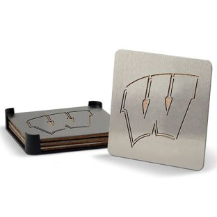 Wisconsin Badgers You The Fan Boaster Set Of 4 Coasters