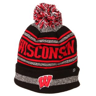 Wisconsin Badgers Zephyr Jetty Cuffed Pom Knit