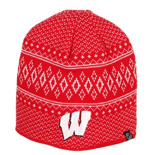Wisconsin Badgers Zephyr Red Rhombus Cuffless Knit