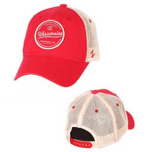 Wisconsin Badgers Zephyr Red Lager Adjustable Cap