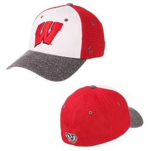 Wisconsin Badgers Zephyr League Zfit Hat