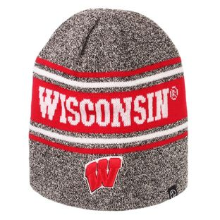 Wisconsin Badgers Zephyr Charcoal Streak Cuffless Knit