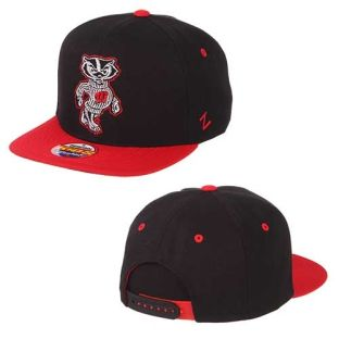 Wisconsin Badgers Zephyr Youth Black Halftime Adjustable Hat