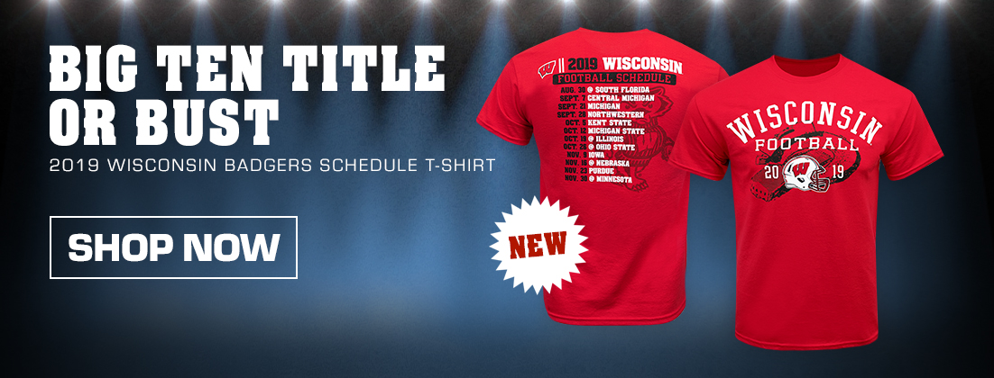 2019 Wisconsin Badgers Football Schedule T-Shirt