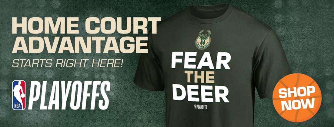 Official Milwaukee Bucks Playoffs Gear