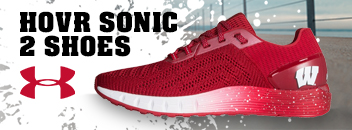 Wisconsin Badgers Under Armour HOVR Sonic 2 Shoes