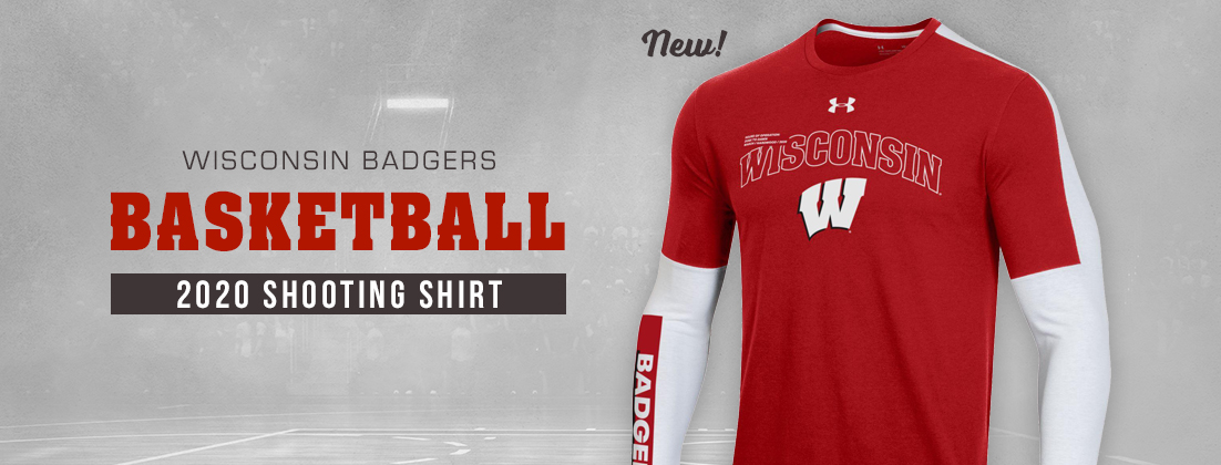 Wisconsin Badgers Under Armour 2020 Basketball Shooter Shirt