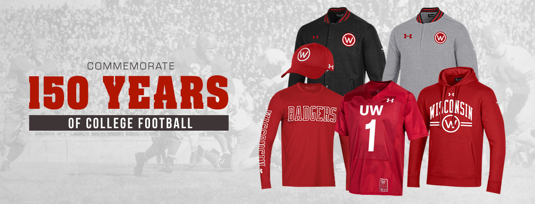 Wisconsin Badgers '150 Years of College Football' Under Armour Commemorative Gear