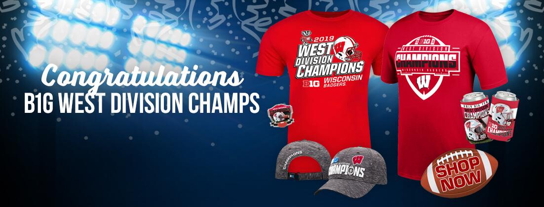 Wisconsin Badgers Football Big Ten Champs Fan Gear