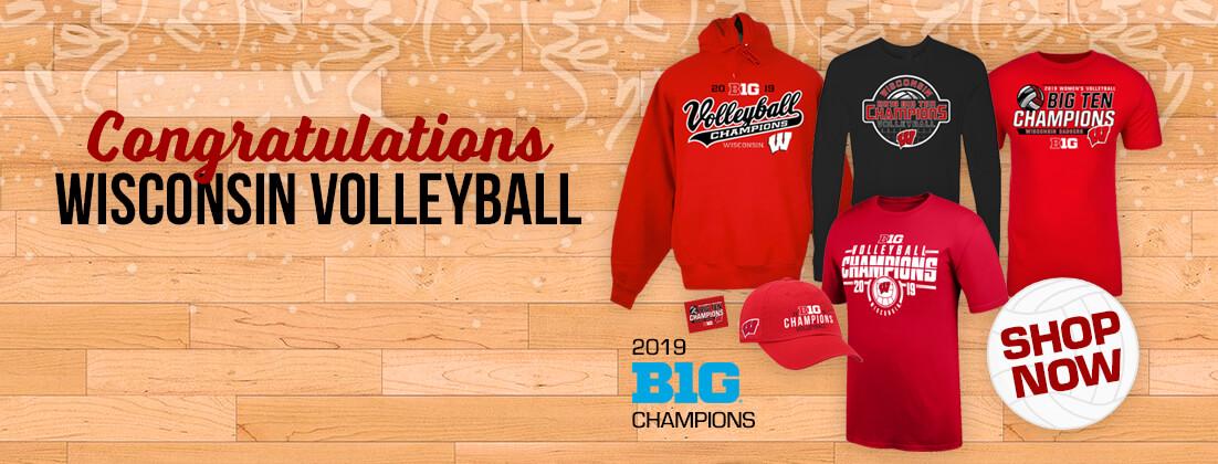 Wisconsin Badgers Volleyball Big Ten Champs Fan Gear