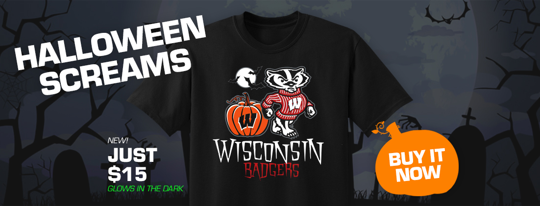 2019 Wisconsin Badgers Bucky Halloween T-Shirt