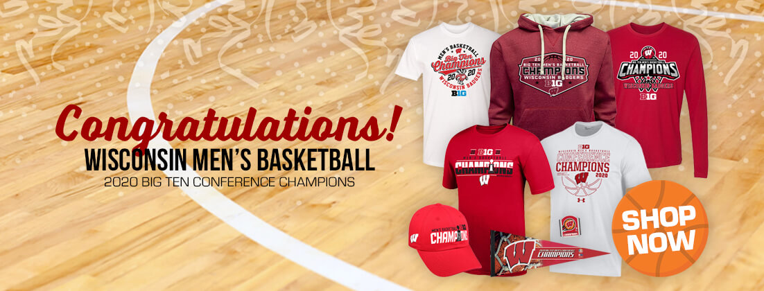 Wisconsin Badgers Basketball 2020 Big Ten Conference Champions Fan Gear