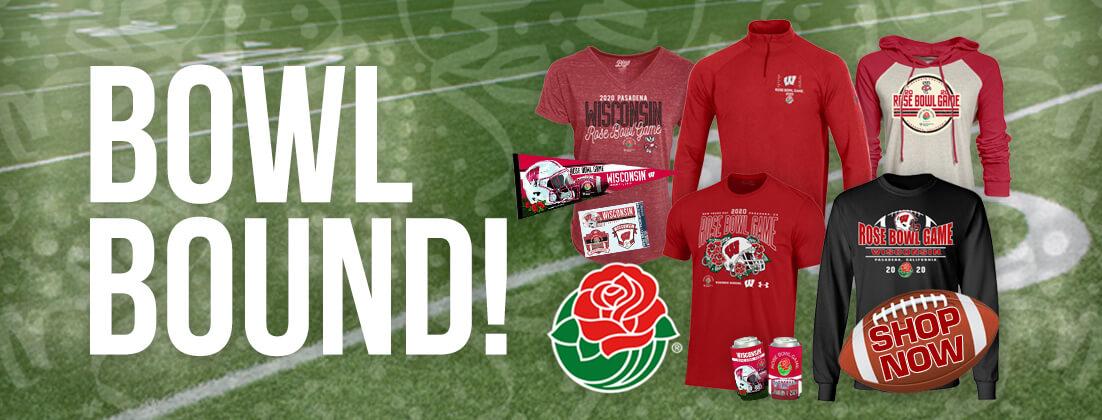 Wisconsin Badgers Football 2020 Rose Bowl Fan Gear
