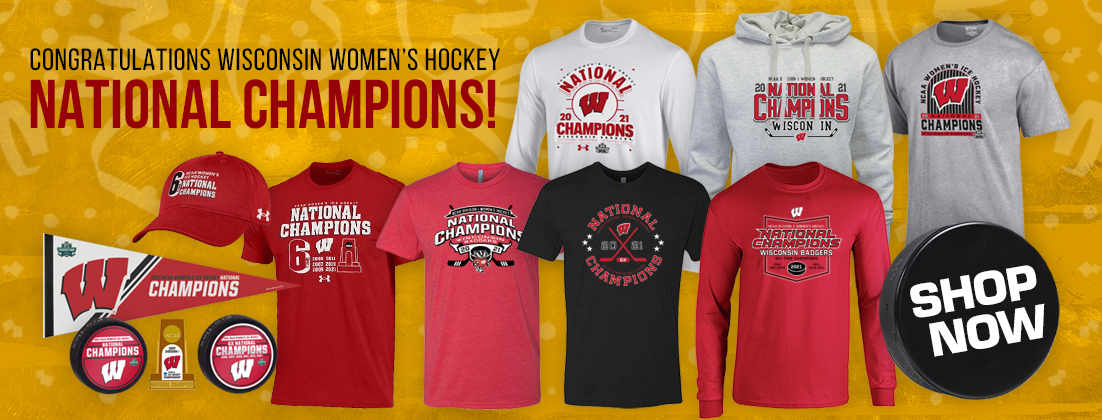 Wisconsin Badgers Women's Hockey 2021 National Champions Gear