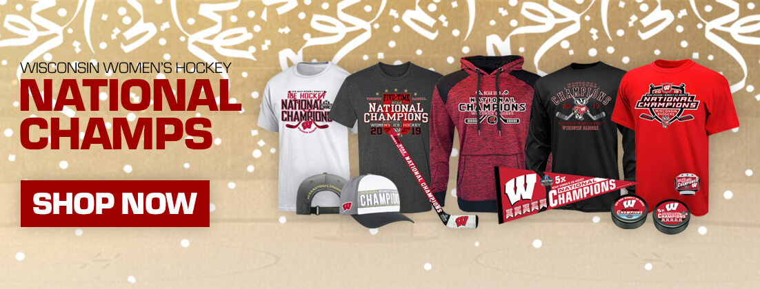 Wisconsin Badgers Womens Hockey 2019 National Championship T-Shirts, Sweatshirts and Merchandise