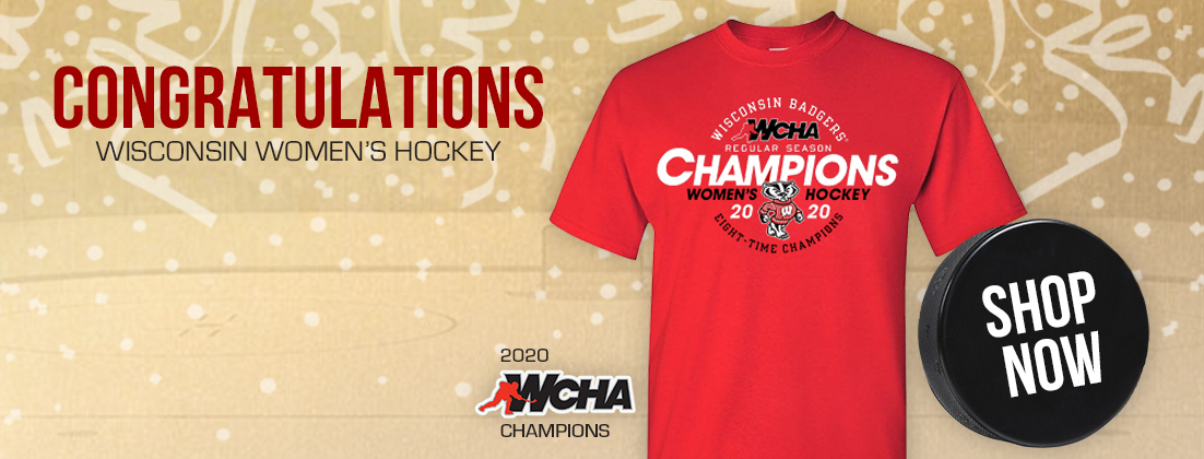 Wisconsin Badgers Women's Hockey 2020 WCHA Regular Season Champions T-Shirt